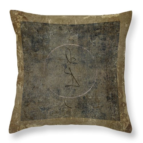 Prayer Throw Pillow featuring the photograph Prayer Flag 201 by Carol Leigh