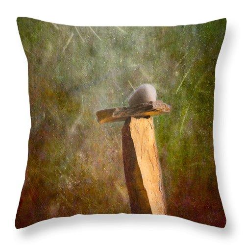 Cairns Throw Pillow featuring the photograph Prayer by Maria Trujillo