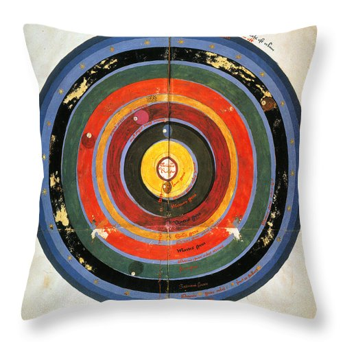 15th Century Throw Pillow featuring the photograph Pre-copernican Universe by Granger