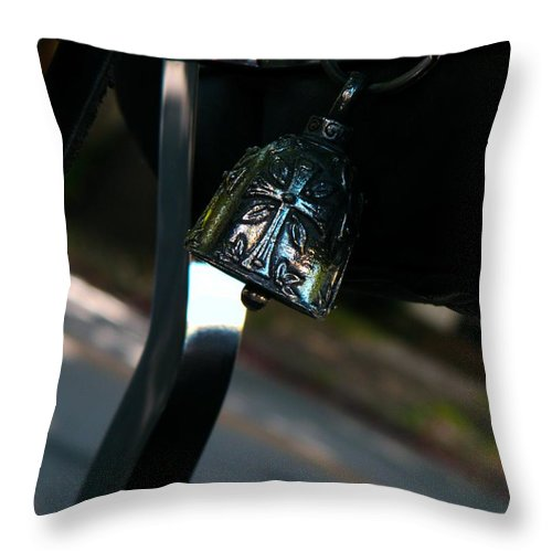Harley Throw Pillow featuring the photograph preacher's Harley by Chris Berry