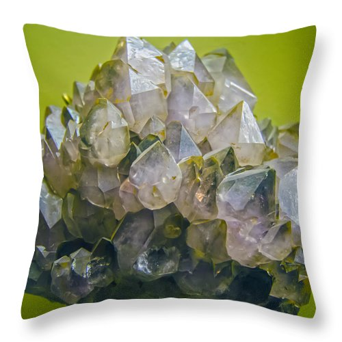 Acute Throw Pillow featuring the photograph Precious Crystals by Alex Grichenko