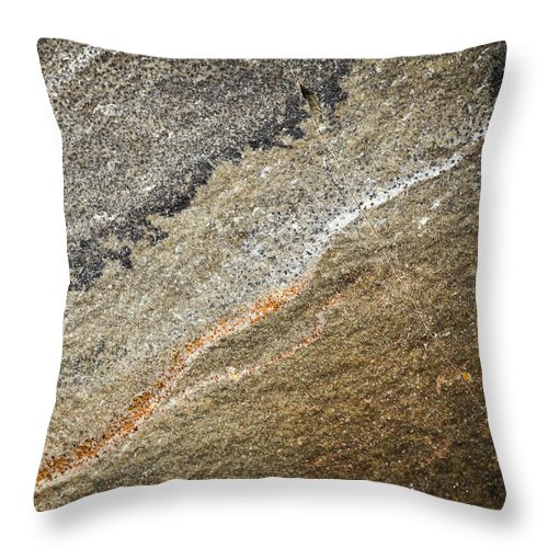 Solid Throw Pillow featuring the photograph Prehistoric Stone by Jozef Jankola