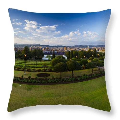 City Throw Pillow featuring the photograph Pretoria Cityscape Southward by Roald Nel
