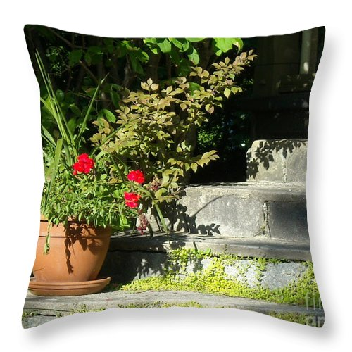 Flowers Throw Pillow featuring the photograph Pretty Gardens by Line Gagne