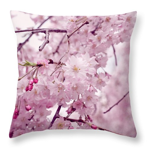Flower Throw Pillow featuring the photograph Pretty In Pink by Sarah Rentrop