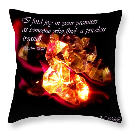 Joy Throw Pillow featuring the digital art Priceless Treasure by Jewell McChesney