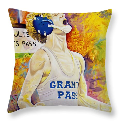 Throw Pillow featuring the painting Primal Roar by Joshua Morton