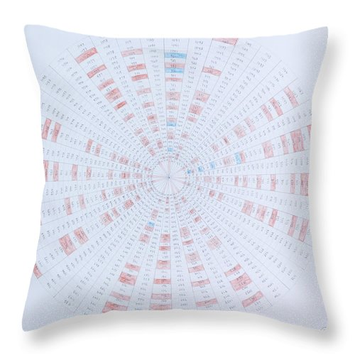 Prime Number Throw Pillow featuring the drawing Prime Number Pattern P Mod 40 by Jason Padgett