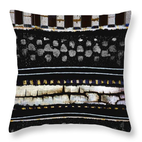 Black Throw Pillow featuring the photograph Primitive by Carol Leigh