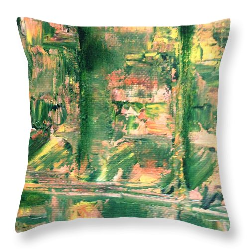 Paintings By Lyle Throw Pillow featuring the painting Prison by Lord Frederick Lyle Morris - Disabled Veteran