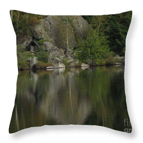 Lake Reflection Throw Pillow featuring the photograph Pristine Reflections by Todd Schworm