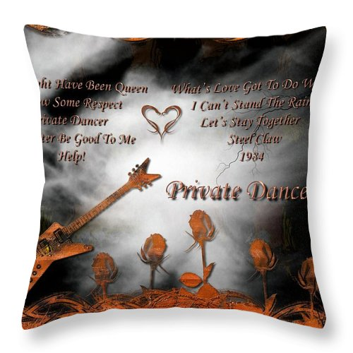 Tina Turner Throw Pillow featuring the digital art Private Dancer by Michael Damiani