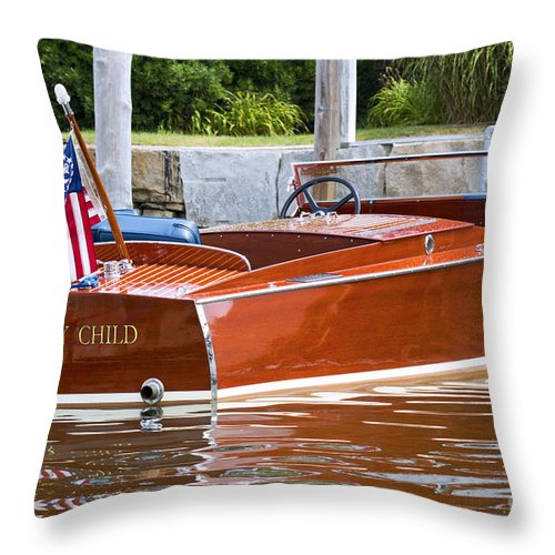 Wood Throw Pillow featuring the photograph Prodigy by Joe Geraci
