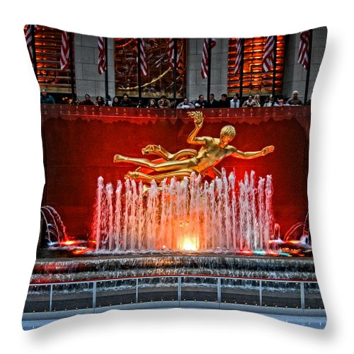 Statue Throw Pillow featuring the photograph Prometheus by Mike Martin