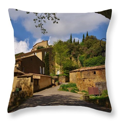 Provence Throw Pillow featuring the photograph Provencal Village by Dany Lison