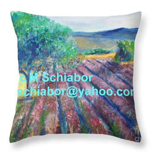 The Actor Throw Pillow featuring the painting Provence Lavender Field by Eric Schiabor