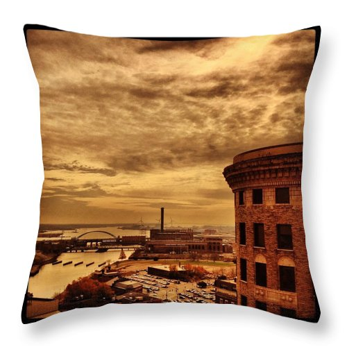 Providence Rhode Island Throw Pillow featuring the photograph Providence Viewpoint by Mark Valentine