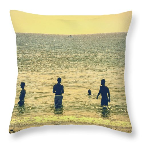 Ptown Throw Pillow featuring the photograph Provincetown Friends by John Jack