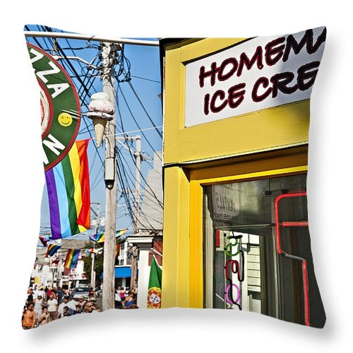 Cape Cod Throw Pillow featuring the photograph Provincetown by John Greim