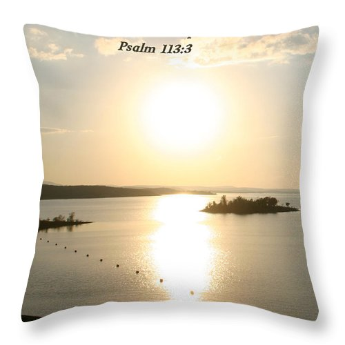 Landscape Throw Pillow featuring the photograph Psalm 113 3 by Nina Fosdick