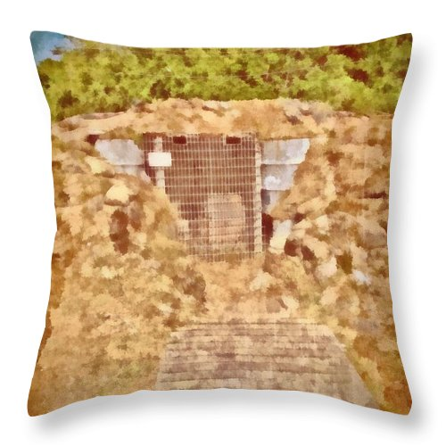Jesus Throw Pillow featuring the digital art Psalm 61 3 by Michelle Greene Wheeler