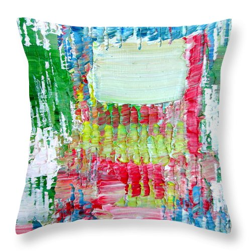 Psychedelic Throw Pillow featuring the painting Psychedelic Object.2 by Fabrizio Cassetta