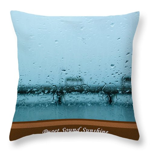 Weather Throw Pillow featuring the photograph Puget Sound Sunshine by Tikvah's Hope