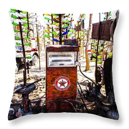 Bottleneck Ranch Throw Pillow featuring the photograph Pump by Angus Hooper Iii
