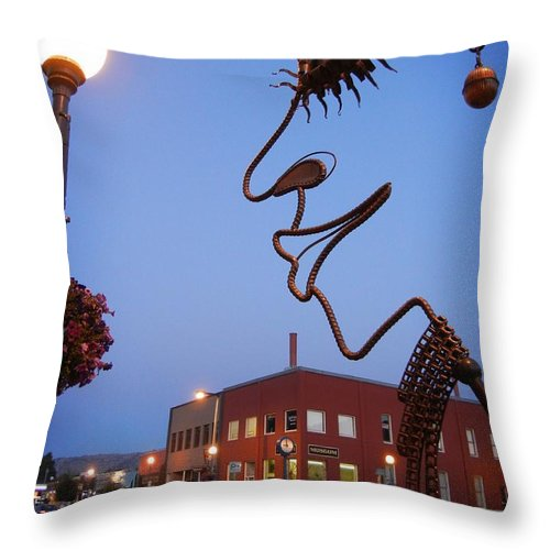 Punk Throw Pillow featuring the photograph Punk by Jamie Johnson
