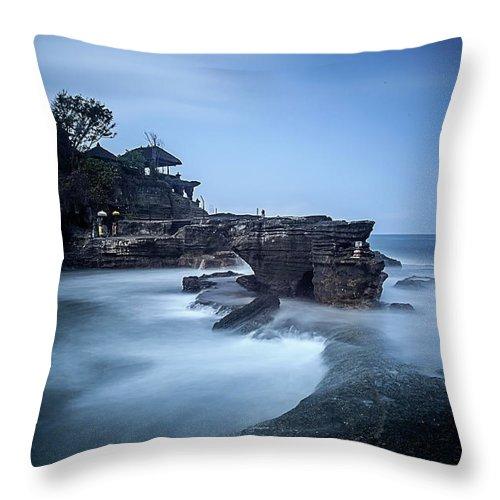 Pura Tanah Lot Throw Pillow featuring the photograph Pura Tanah Lot by Franciscus Nanang Triana