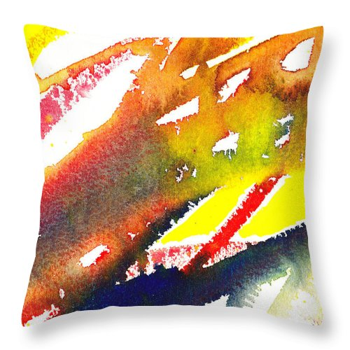 Linea Throw Pillow featuring the painting Pure Color Inspiration Abstract Painting Linea Forces by Irina Sztukowski