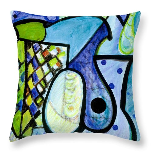 Abstract Art Throw Pillow featuring the painting Pure Perfection by Stephen Lucas