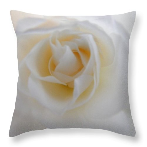 Rose Throw Pillow featuring the photograph Purity by Deb Halloran