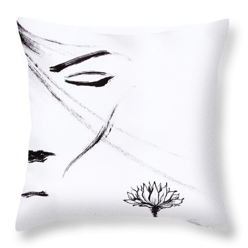 Pure Throw Pillow featuring the painting Purity by Len YewHeng