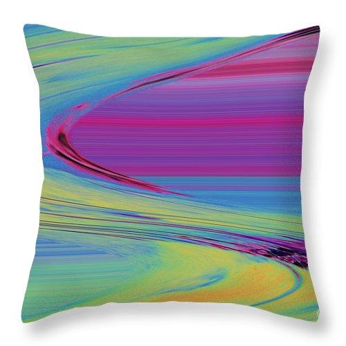 Purple Throw Pillow featuring the digital art Purple by Carol Lynch