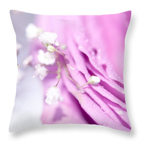 Rose Throw Pillow featuring the photograph Purple Delight. Natural Watercolor by Jenny Rainbow