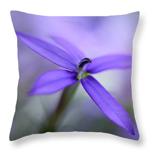Nature Throw Pillow featuring the photograph Purple Dreams by Annie Snel