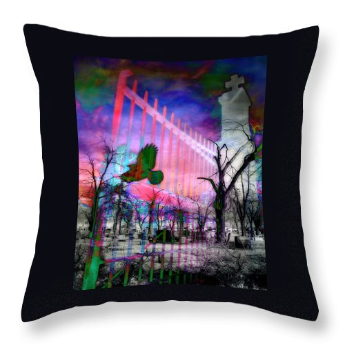 Colors Throw Pillow featuring the digital art Purple Light by Gothicrow Images