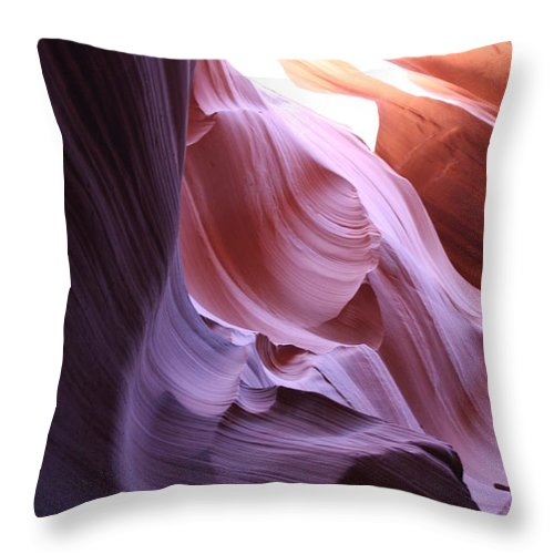 Canyon Throw Pillow featuring the photograph Purple Sandstone by Christiane Schulze Art And Photography