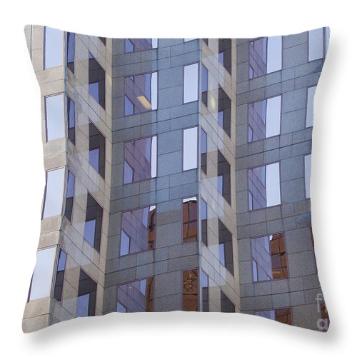 Windows Throw Pillow featuring the photograph Purple Windows by Chris Dutton