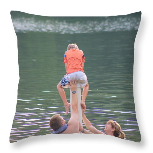 Cute Kids Throw Pillow featuring the photograph Push Your Child To Achieve by Robin Vargo
