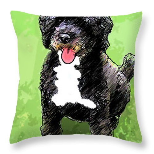Dog Throw Pillow featuring the photograph Pw Dog by Karen Lambert