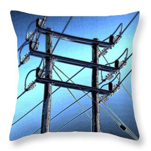Pylon Throw Pillow featuring the photograph Pylon 21b by Ron Harpham