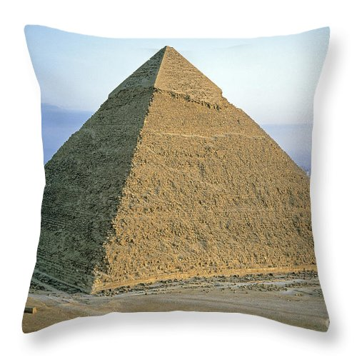 Africa Throw Pillow featuring the photograph Pyramid Of Khafre by Adam Sylvester