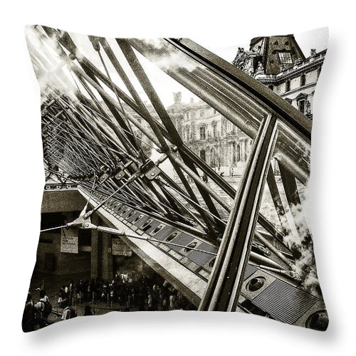 Europe Throw Pillow featuring the photograph Pyramid. Paris. by Oleg Koryagin