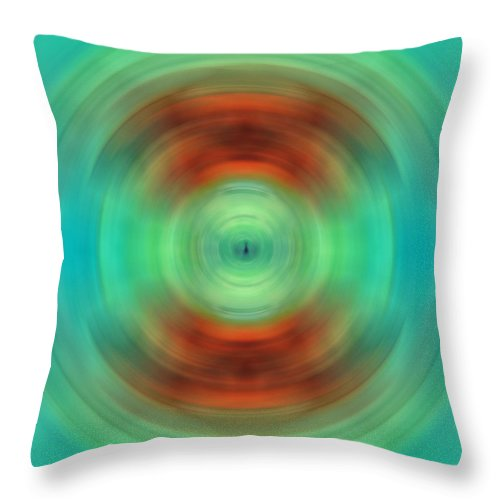 Abstract Throw Pillow featuring the painting Qi - Energy Art By Sharon Cummings by Sharon Cummings