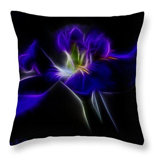 Iris Throw Pillow featuring the photograph Quasar Iris by Lucy VanSwearingen