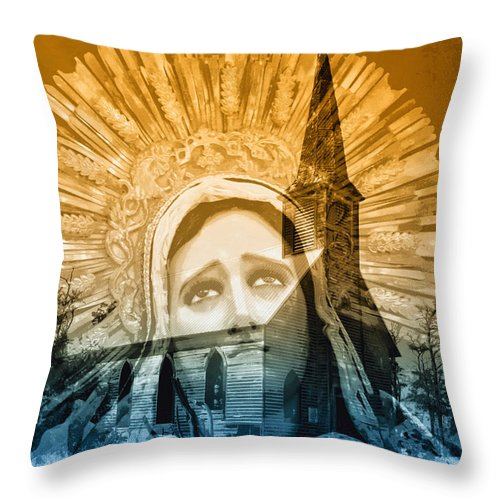 Queen Of Angels Throw Pillow featuring the photograph Queen Of Angels by Dominic Piperata