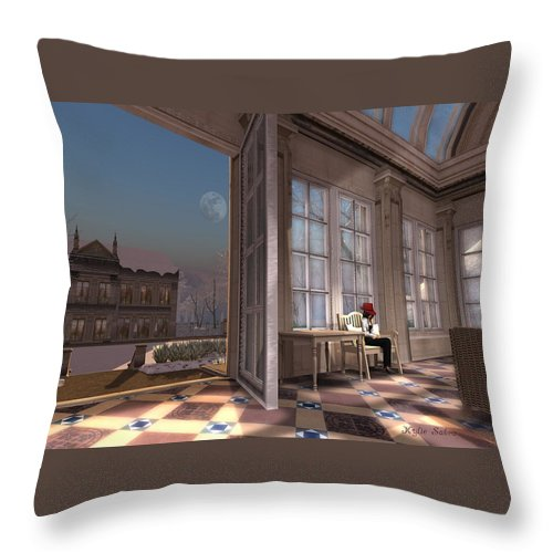 Winter Throw Pillow featuring the digital art Quiet Winter Day by Kylie Sabra