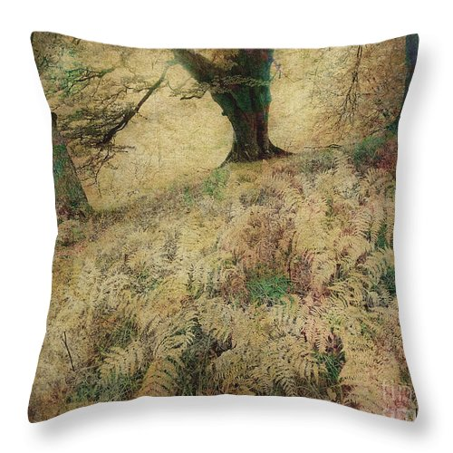 Magic Throw Pillow featuring the photograph Quietude Of The Forest by Edmund Nagele